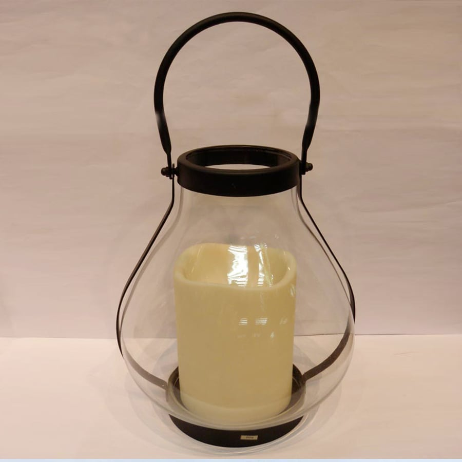 Holiday Living Pre-Lit Lantern Christmas Gift with Twinkling Yellow LED Lights