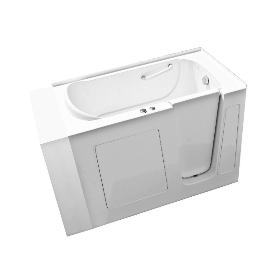 Endurance Tubs 53-in White Fiberglass Walk-In Whirlpool Tub with Right-Hand Drain