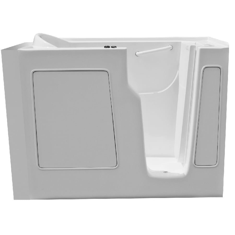 Endurance Endurance Tubs 52-in White Fiberglass Walk-In Whirlpool Tub with Right-Hand Drain