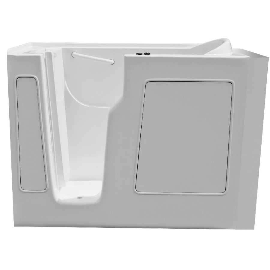 Endurance Endurance Tubs White Fiberglass Rectangular Walk-in Whirlpool Tub (Common: 30-in x 54-in; Actual: 38-in x 29-in x 52-in)