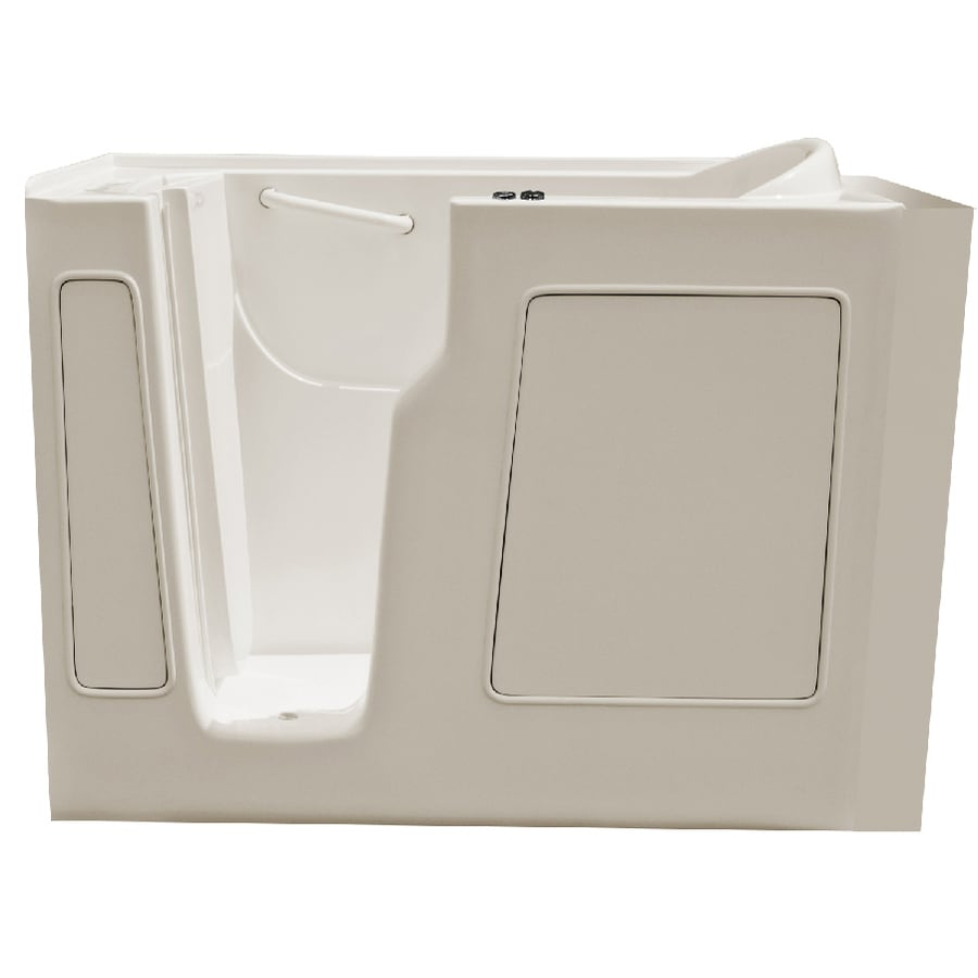 Endurance Endurance Tubs 52-in Biscuit Fiberglass Walk-In Whirlpool Tub with Left-Hand Drain