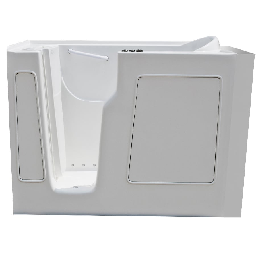 Endurance Endurance Tubs 29-in L x 52-in W x 38-in H White Fiberglass Rectangular Walk-in Whirlpool Tub and Air Bath