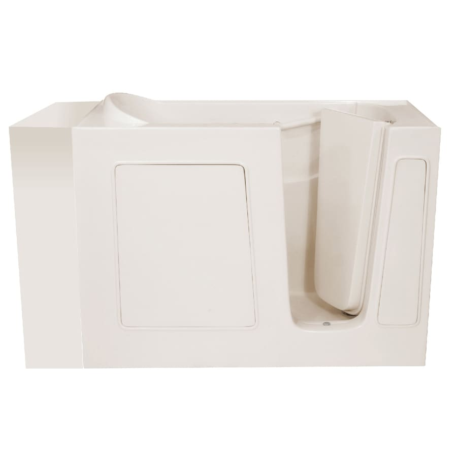 Endurance Gelcoat and Fiberglass Rectangular Walk-in Bathtub with Right-Hand Drain (Common: 26-in x 54-in; Actual: 38-in x 26-in x 53-in)