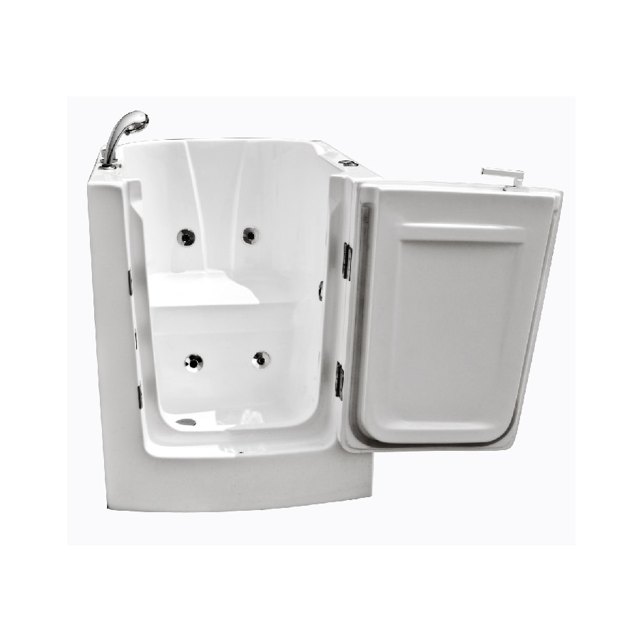 Endurance Endurance Tubs 38-in White Acrylic Walk-In Whirlpool Tub with Left-Hand Drain