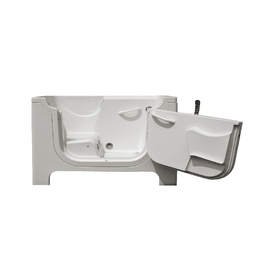 Endurance Endurance Tubs 60-in White Fiberglass Walk-In Whirlpool Tub with Right-Hand Drain