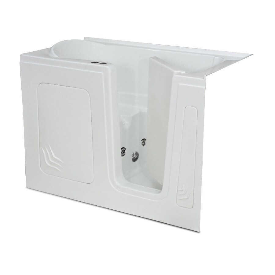 Endurance Tubs 60-in White Acrylic Walk-In Whirlpool Tub with Right-Hand Drain