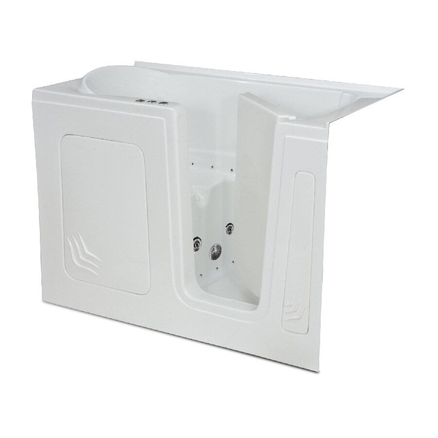 Shop Endurance Endurance Tubs 32 In White Acrylic Walk In Whirlpool Tub And A