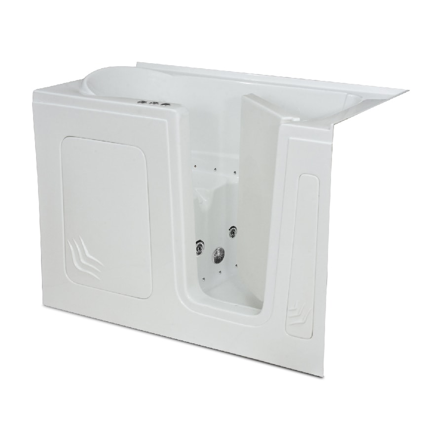 Endurance Endurance Tubs 32-in White Acrylic Walk-In Whirlpool Tub and Air Bath with Right-Hand Drain