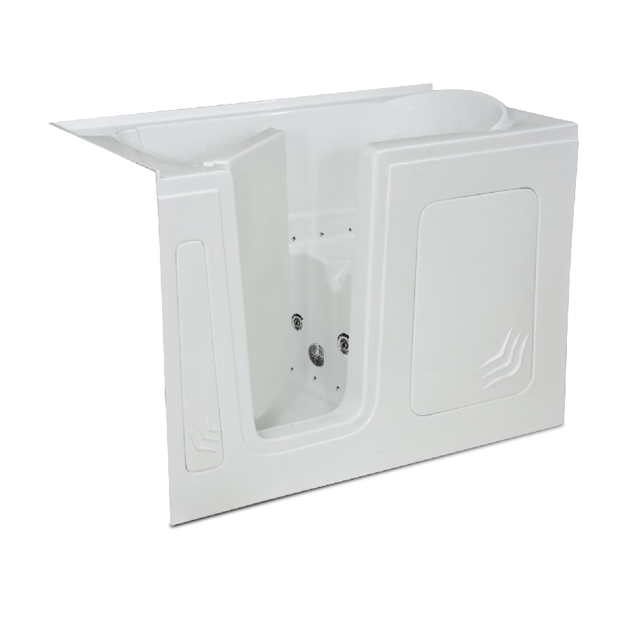 Endurance Endurance Tubs 32-in White Acrylic Walk-In Whirlpool Tub And Air Bath with Left-Hand Drain