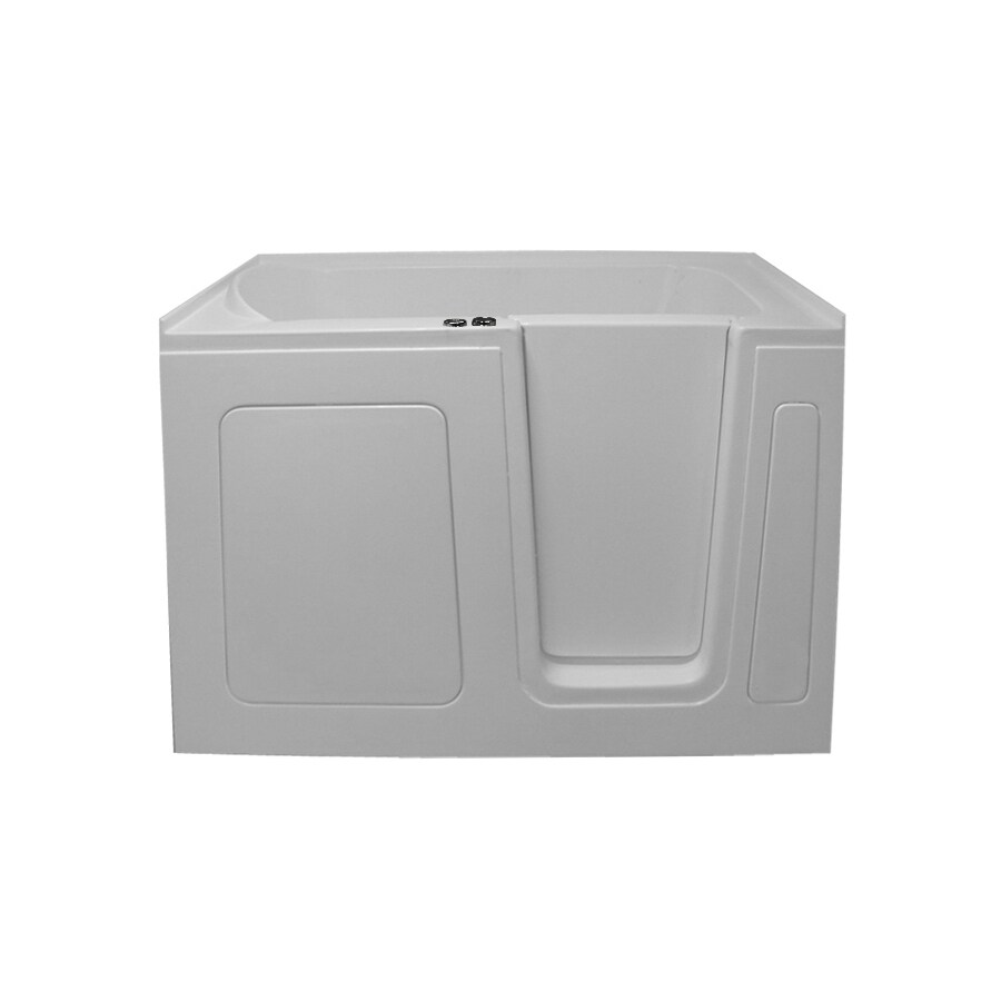Shop Endurance Tubs 54-in White Acrylic Walk-In Whirlpool Tub with ...