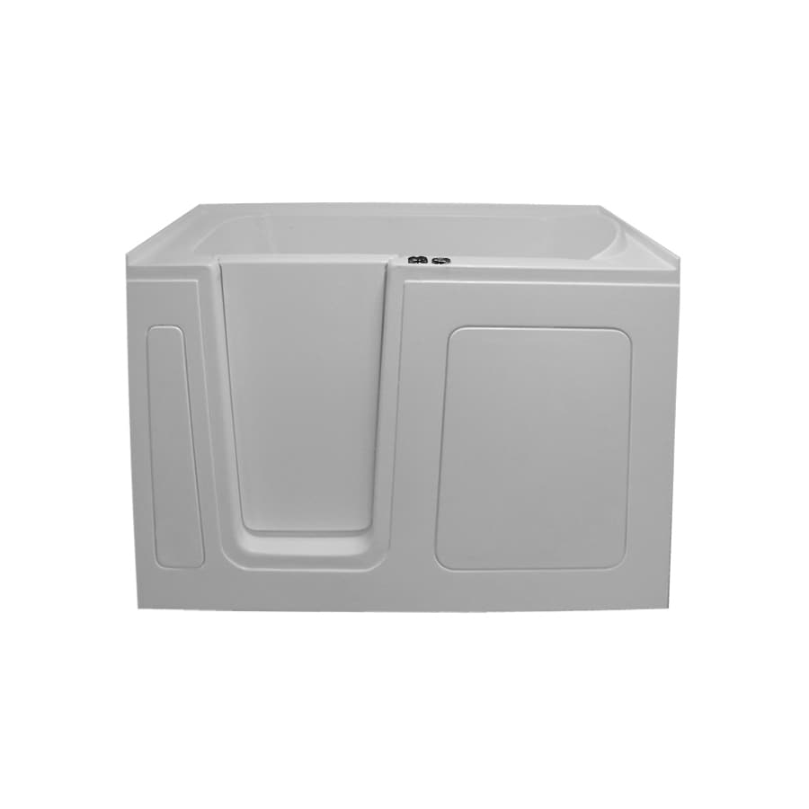 Endurance Tubs 54-in White Acrylic Walk-In Whirlpool Tub with Left-Hand Drain