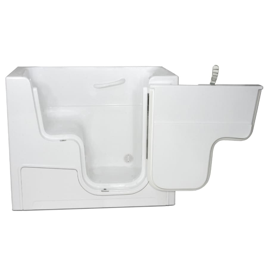 Endurance Gelcoat and Fiberglass Rectangular Walk-in Bathtub with Right-Hand Drain (Common: 30-in x 52-in; Actual: 42-in x 29-in x 52-in)