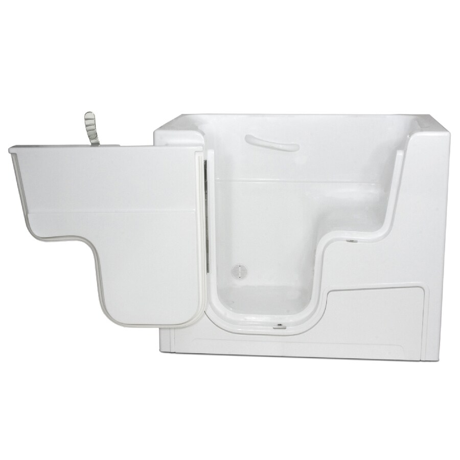 Endurance Gelcoat and Fiberglass Rectangular Walk-in Bathtub with Left-Hand Drain (Common: 30-in x 52-in; Actual: 42-in x 29-in x 52-in)