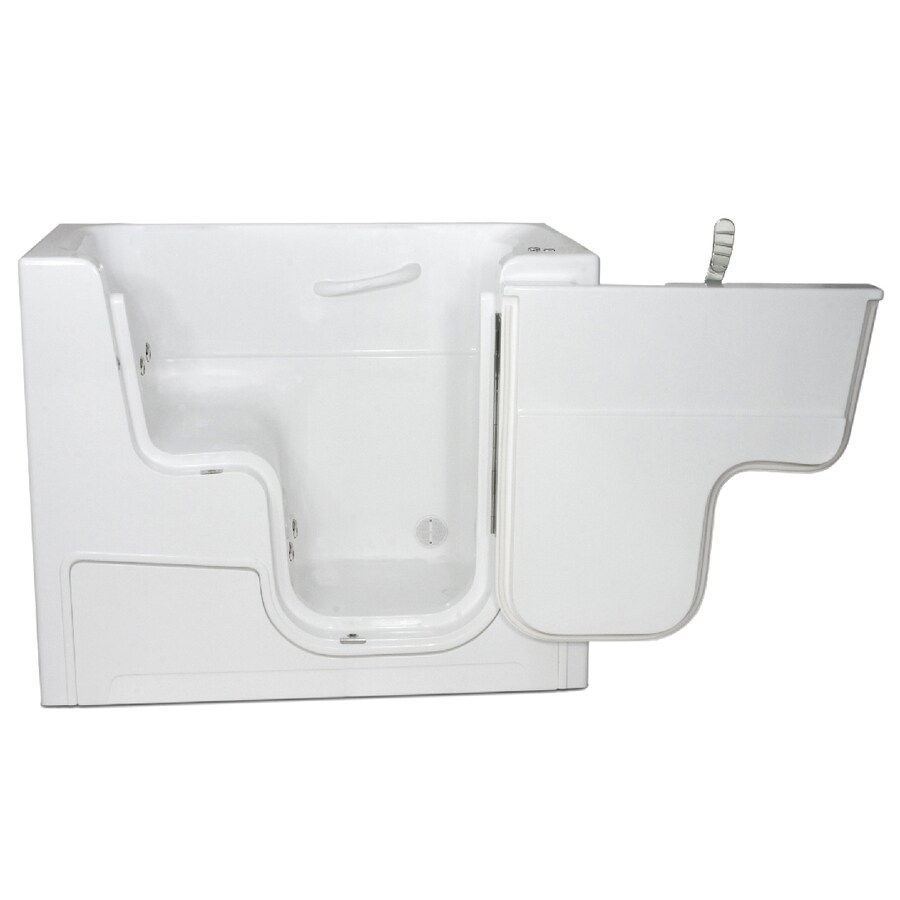 Endurance Endurance Tubs White Fiberglass Rectangular Walk-in Whirlpool Tub (Common: 30-in x 54-in; Actual: 42-in x 29-in x 53-in)