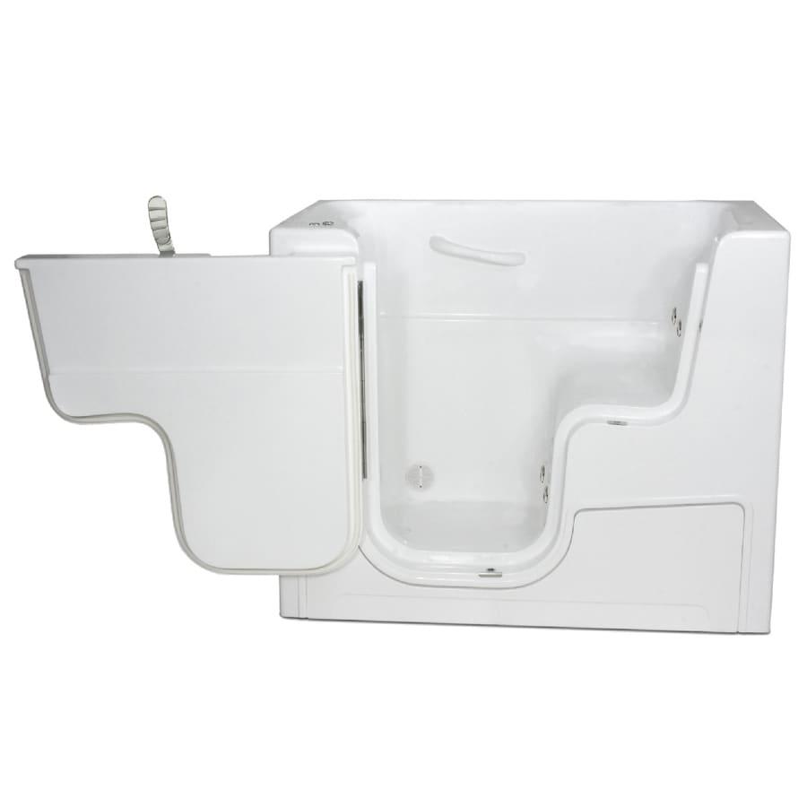 Endurance Endurance Tubs White Fiberglass Rectangular Walk-in Whirlpool Tub (Common: 30-in x 54-in; Actual: 42-in x 29-in x 53-in)