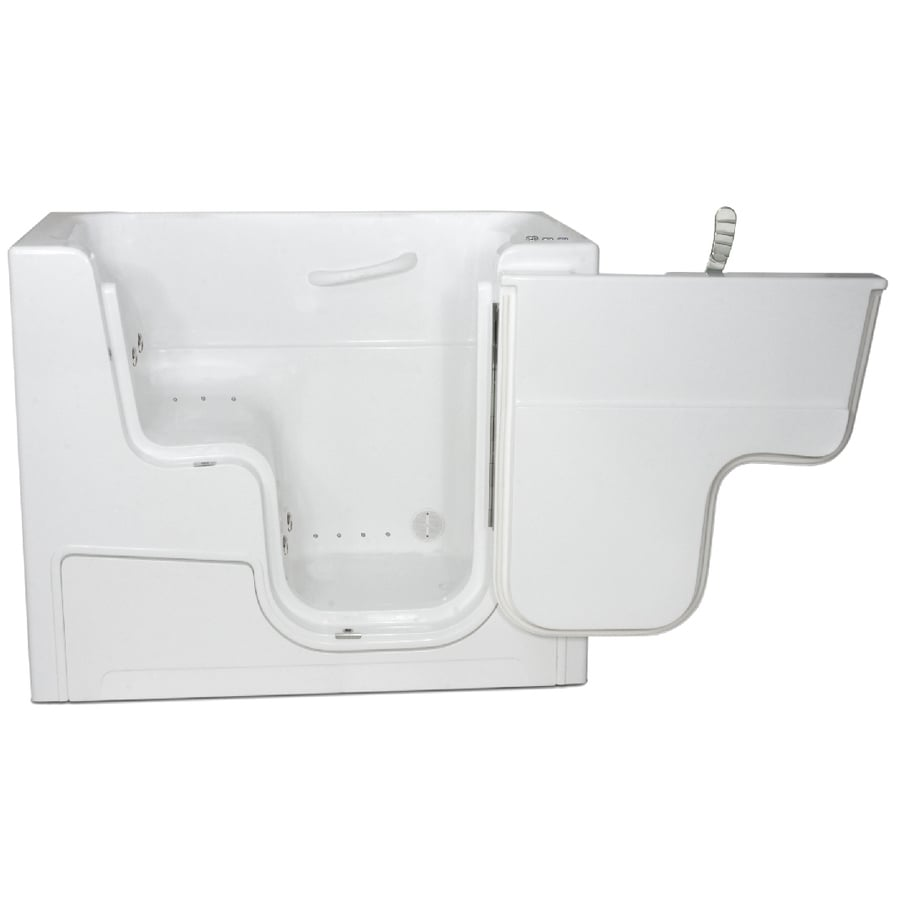 Endurance Tubs 29-in White Fiberglass Walk-In Whirlpool Tub And Air Bath with Right-Hand Drain