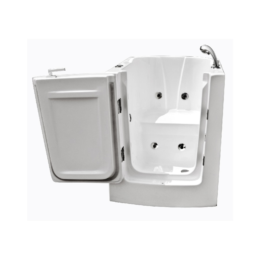 Endurance Endurance Tubs 38-in White Acrylic Walk-In Whirlpool Tub with Right-Hand Drain