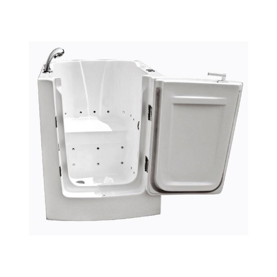 Shop Endurance Endurance Tubs 38 In White Acrylic Walk In Air Bath With Right