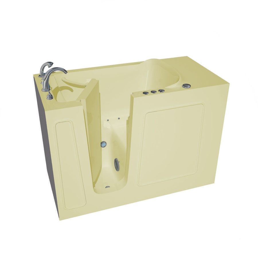 Endurance Tubs 26-in Biscuit Fiberglass Walk-In Air Bath with Left-Hand Drain