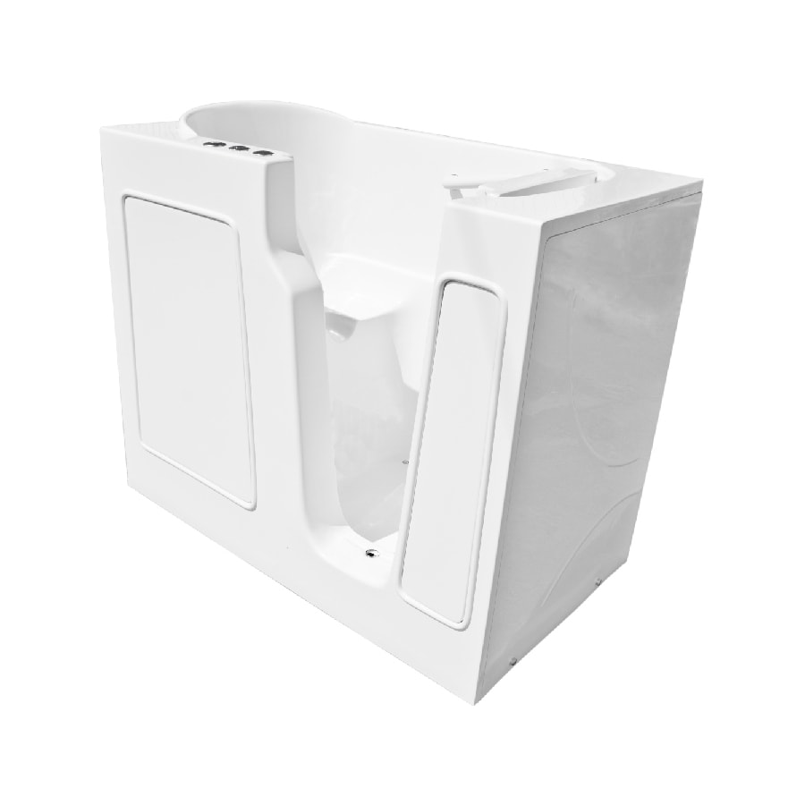 Endurance Acrylic Rectangular Walk-in Bathtub with Right-Hand Drain (Common: 26-in x 46-in; Actual: 38-in x 26-in x 46-in)