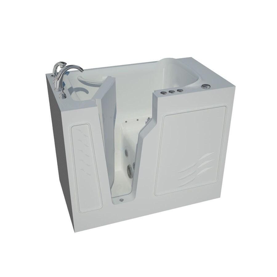 Endurance 26-in L x 46-in W x 38-in H White Fiberglass Rectangular Walk-in Air bath