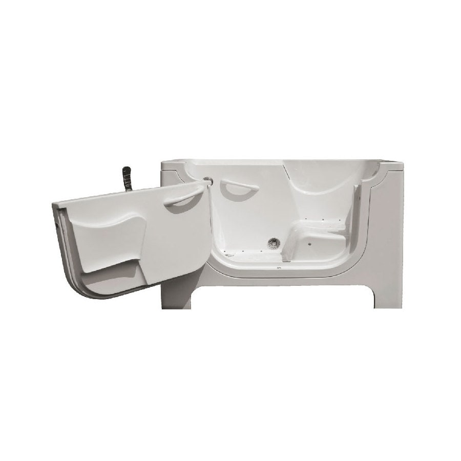 Endurance Tubs 30-in White Fiberglass Walk-In Air Bath with Left-Hand Drain