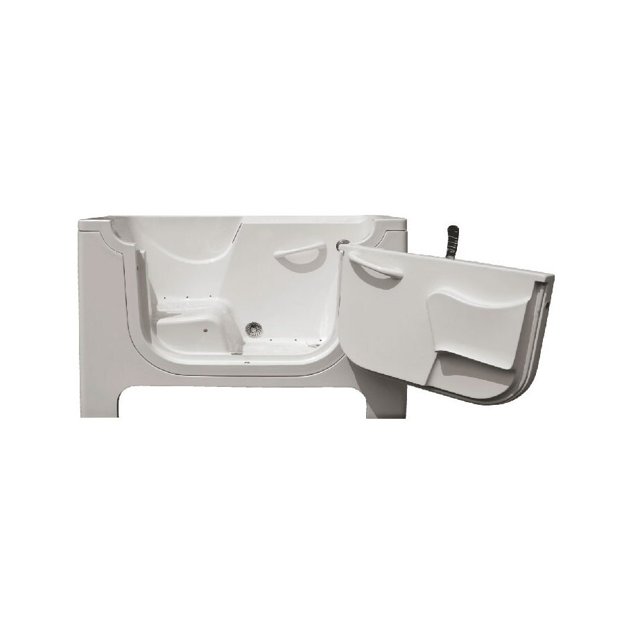 Endurance Endurance Tubs 30-in L x 60-in W x 48-in H White Fiberglass Rectangular Walk-in Air Bath