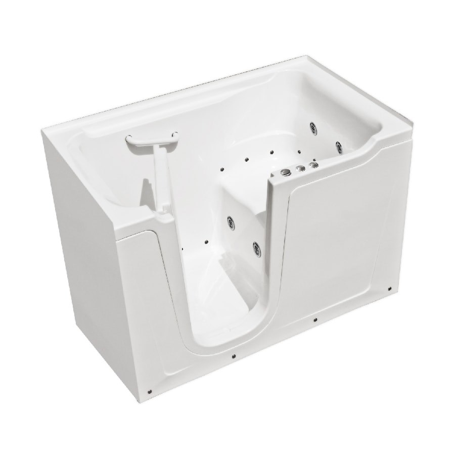 Endurance 60-in L x 36-in W x 38-in H White Gelcoat and Fiberglass Rectangular Walk-in Whirlpool Tub and Air Bath