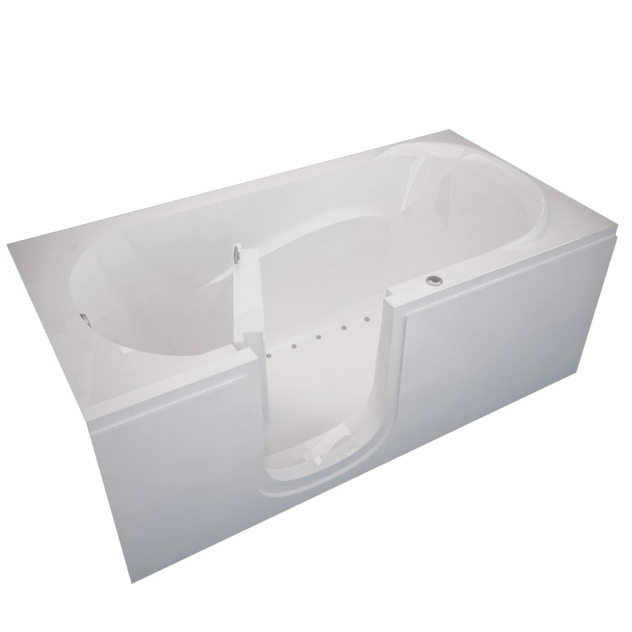 Shop Endurance Endurance Tubs 30 In White Acrylic Walk In Air Bath With Left