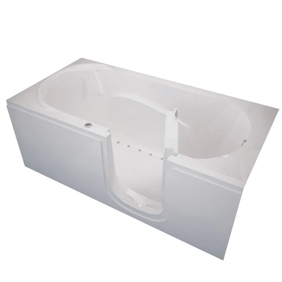 Endurance Tubs 30-in White Acrylic Walk-In Air Bath with Right-Hand Drain