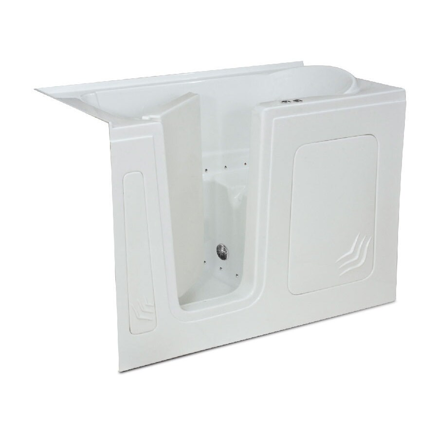 Endurance Tubs 32-in White Acrylic Walk-In Air Bath with Left-Hand Drain
