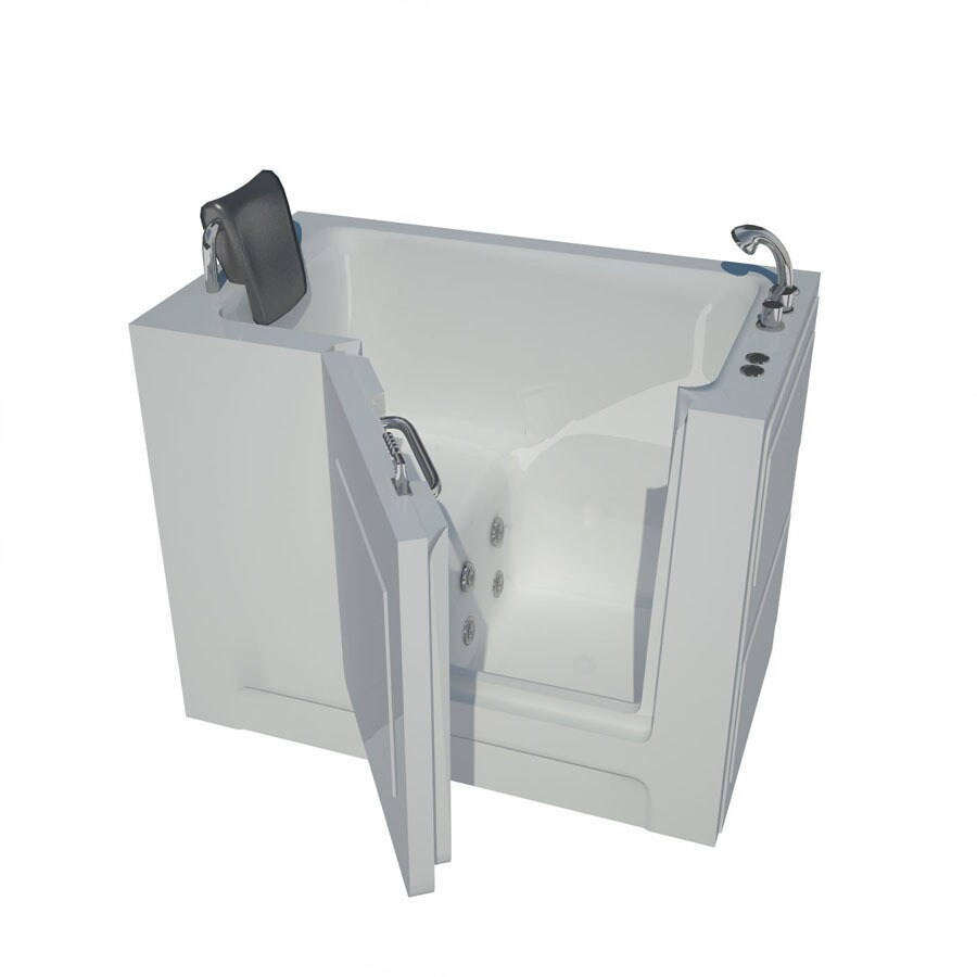 Endurance Tubs 47-in White Acrylic Walk-In Whirlpool Tub with Right-Hand Drain