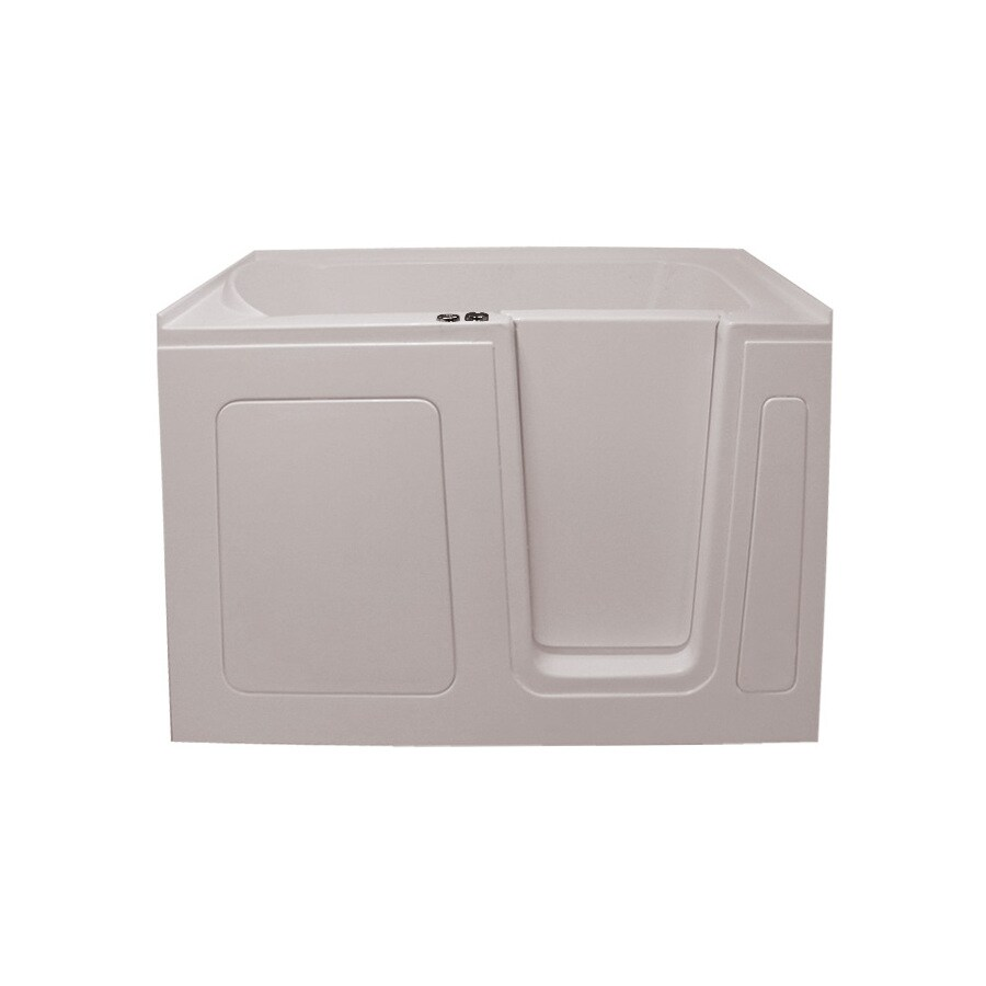 Endurance Endurance Tubs Biscuit Acrylic Rectangular Walk-in Whirlpool Tub (Common: 30-in x 54-in; Actual: 38-in x 30-in x 54-in)