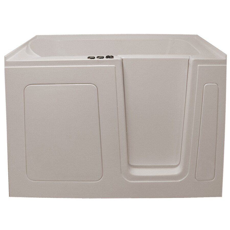 Endurance Tubs 30-in Biscuit Acrylic Walk-In Whirlpool Tub And Air Bath with Right-Hand Drain