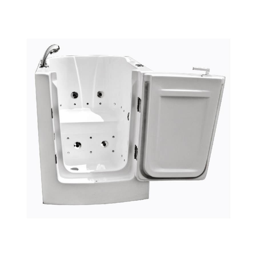 Endurance Endurance Tubs 32-in L x 38-in W x 38-in H White Acrylic Rectangular Walk-in Whirlpool Tub and Air Bath