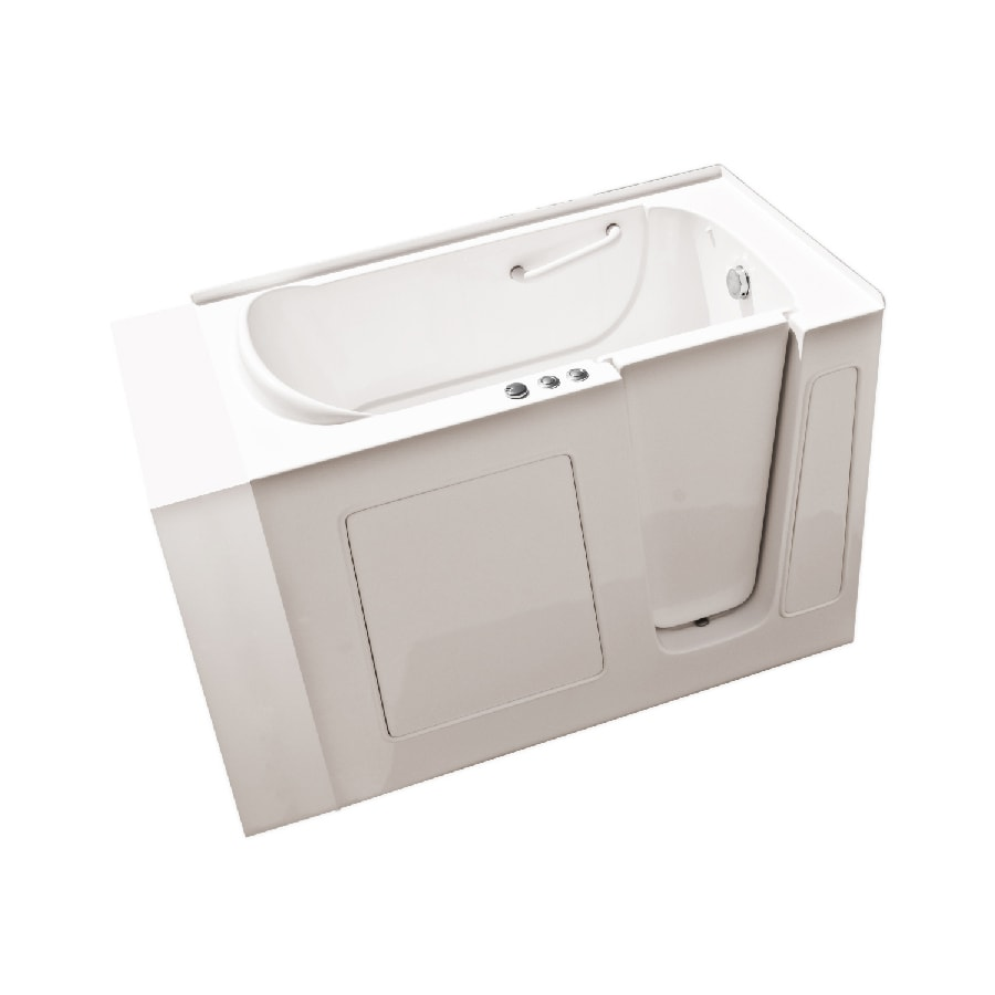 Endurance Biscuit Gelcoat and Fiberglass Rectangular Walk-in Whirlpool Tub (Common: 30-in x 54-in; Actual: 38-in x 30-in x 53-in)