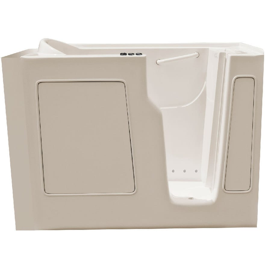 Endurance 52-in L x 29-in W x 40-in H Biscuit Gelcoat and Fiberglass Rectangular Walk-in Air Bath