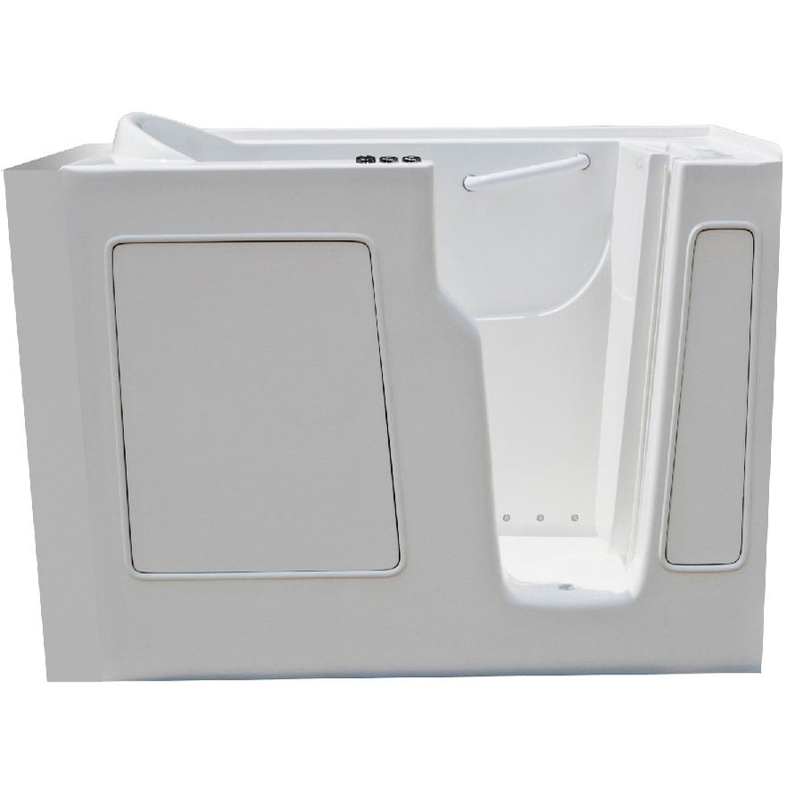 Endurance 52-in L x 29-in W x 40-in H White Gelcoat and Fiberglass Rectangular Walk-in Air Bath