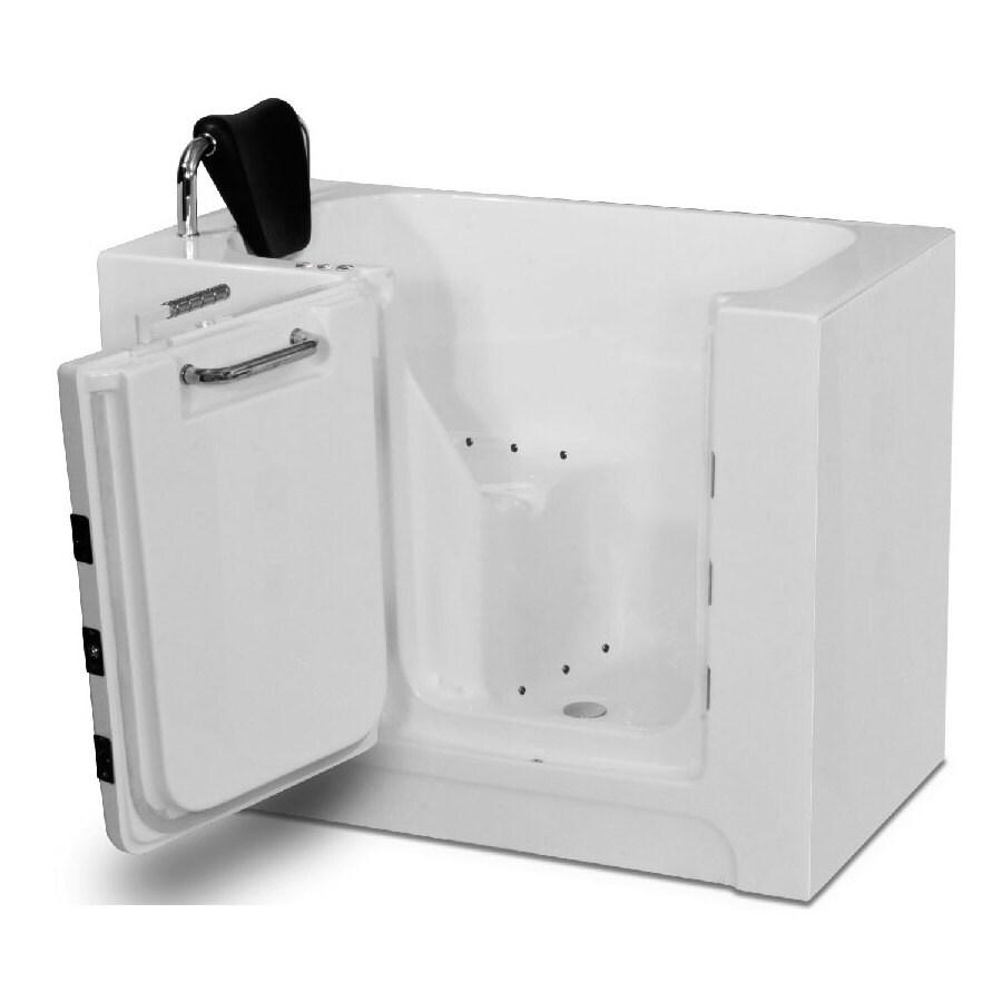 Endurance 39-in L x 27-in W x 37-in H White Acrylic Rectangular Walk-in Air Bath