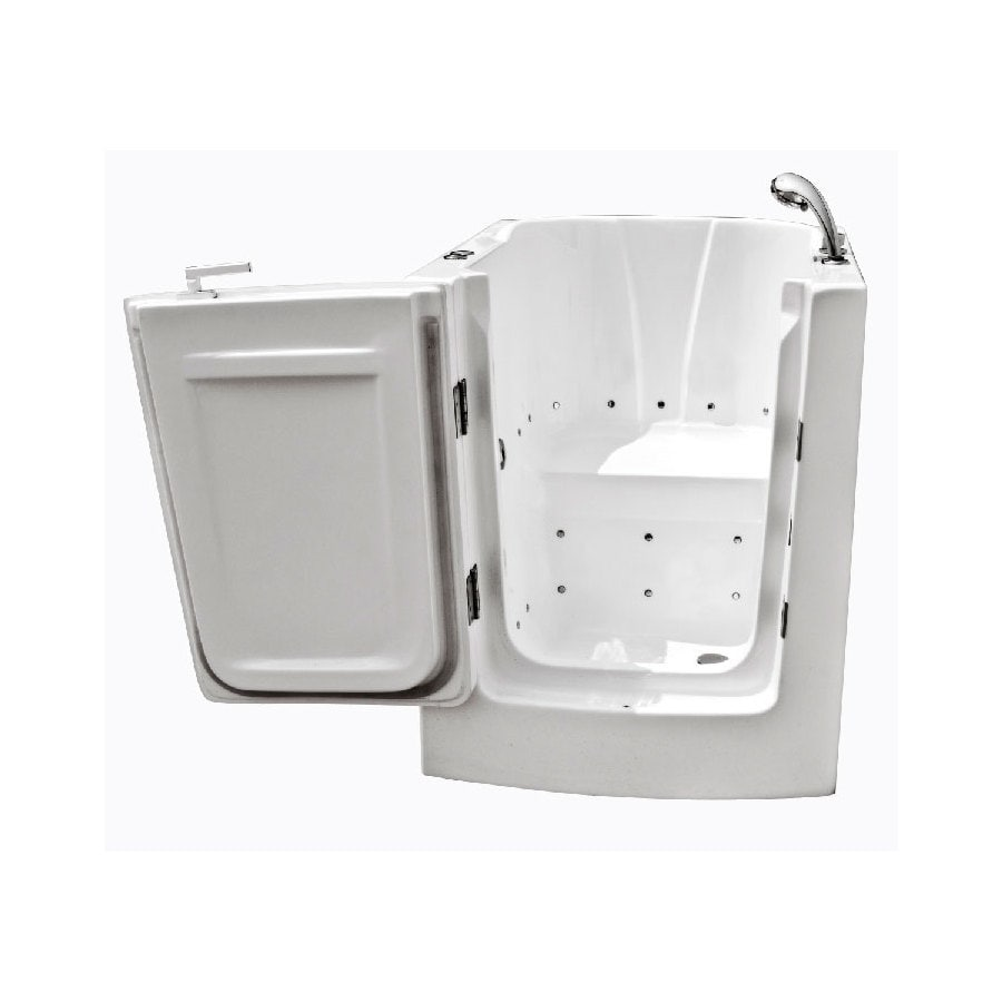 Endurance Endurance Tubs 38-in White Acrylic Walk-In Air Bath with Left-Hand Drain