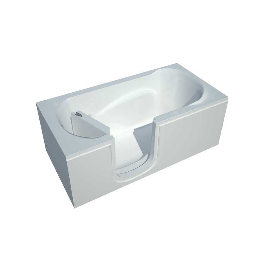 Endurance Acrylic Rectangular Walk-in Bathtub with Left-Hand Drain (Common: 30-in x 60-in; Actual: 20-in x 30-in x 60-in)
