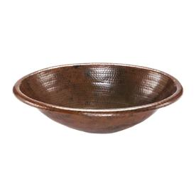 Premier Copper Products Oil Rubbed Bronze Copper Drop In Oval Bathroom Sink