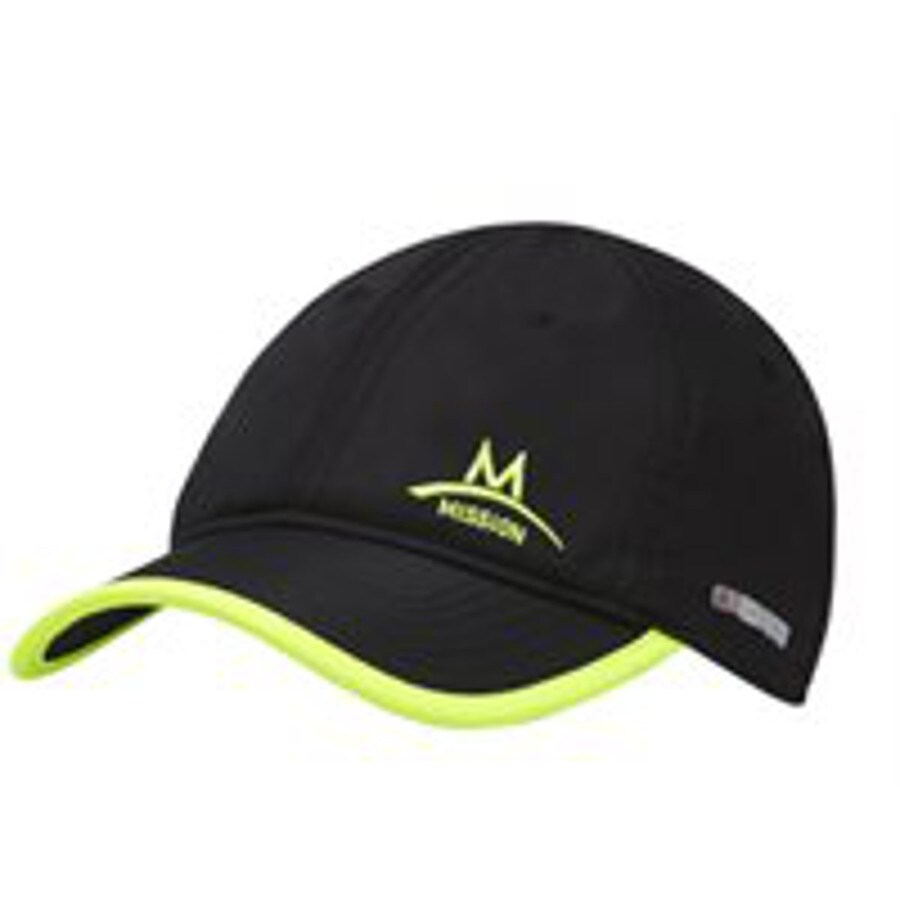 Mission One Size Fits Most Unisex M Black and Green Polyester Baseball Cap
