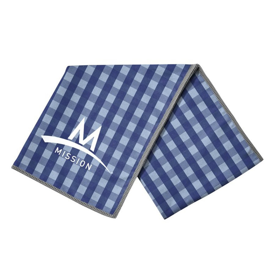 Mission Gingham Polyester Cooling Towel