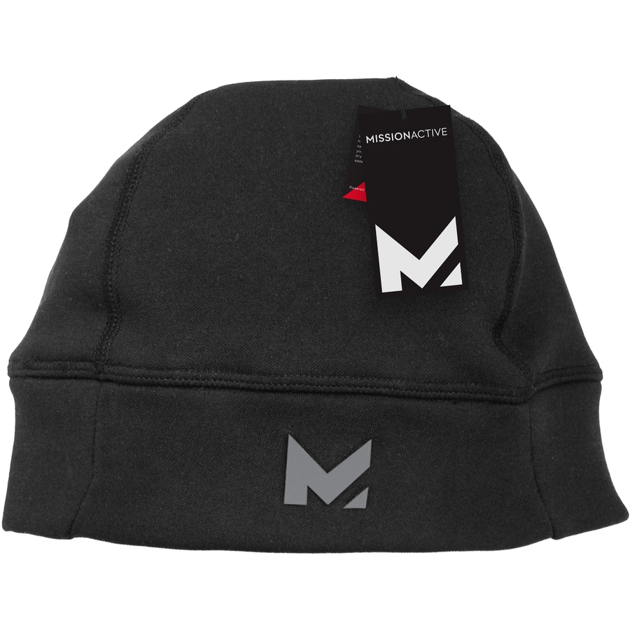Mission One Size Fits Most Unisex M Black Fleece Knit Hat