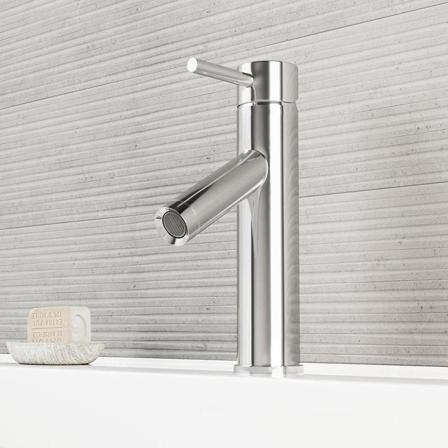 VIGO Alicia Chrome 1-Handle Single Hole WaterSense Bathroom Faucet