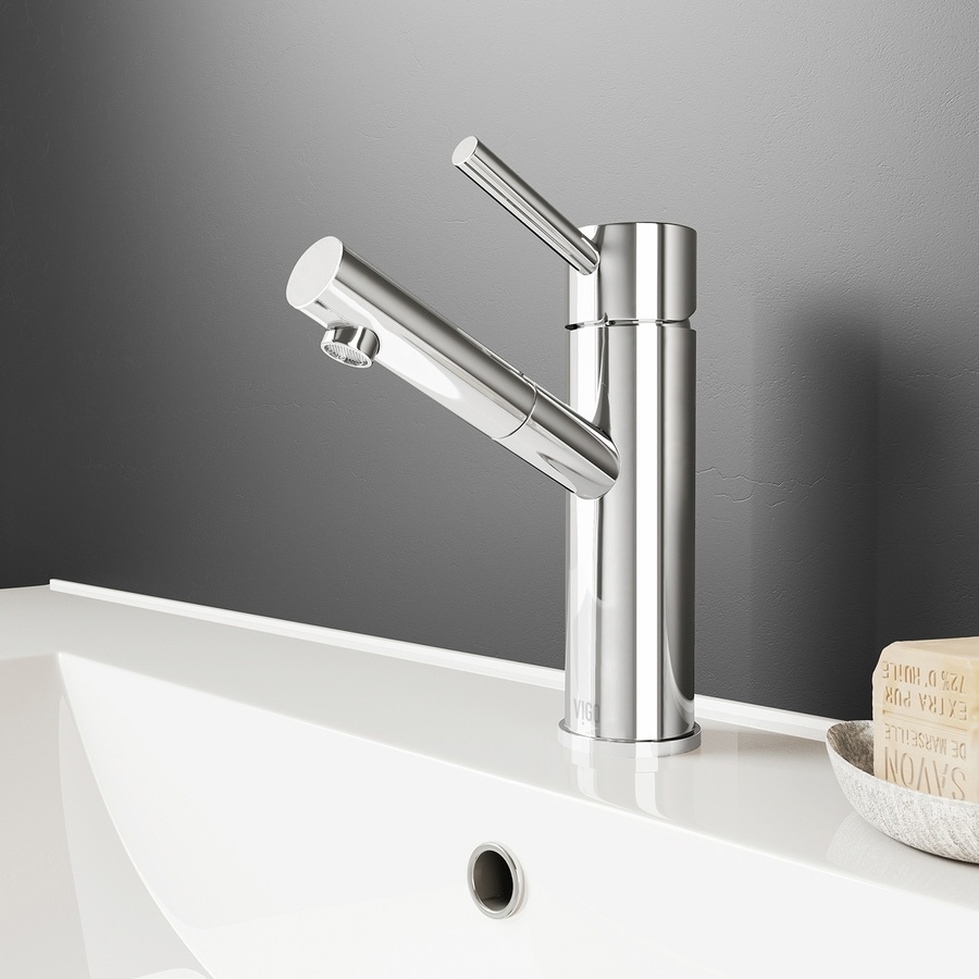 VIGO Noma Chrome 1-Handle Single Hole WaterSense Bathroom Faucet