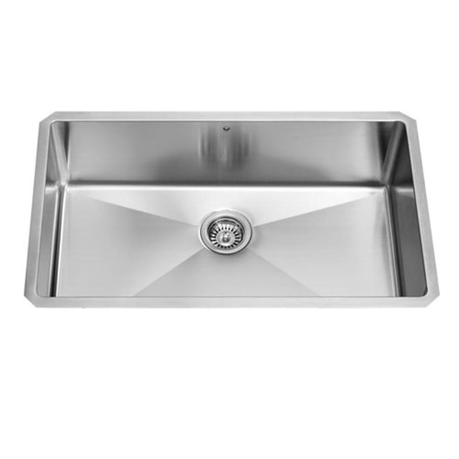 VIGO 32-in x 19-in Stainless Steel Single-Basin Stainless Steel Undermount Commercial/Residential Kitchen Sink