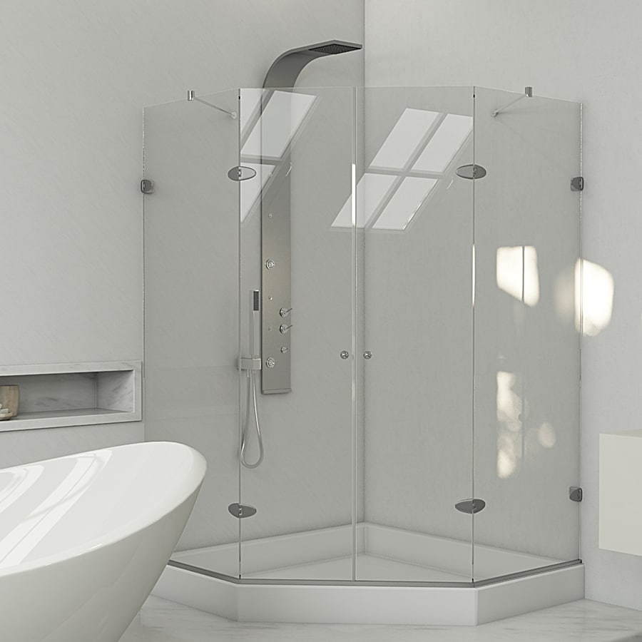 Shop VIGO Gemini Frameless Chrome Shower Door At