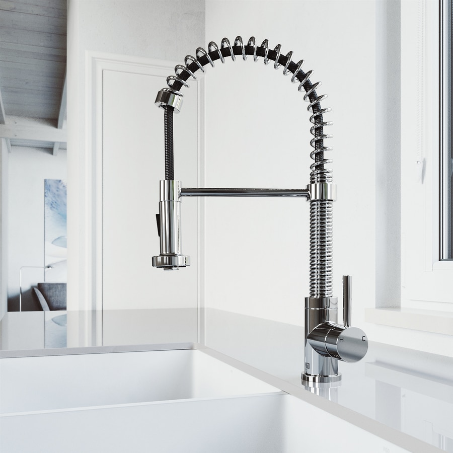 Vigo Edison Chrome Pull Down Spray Kitchen Faucet
